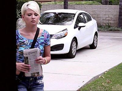 Paper girl gets a tip