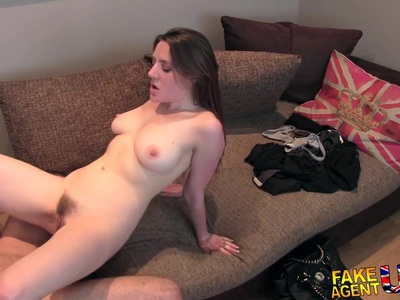FakeAgentUK Posh British girl gets anal creampie