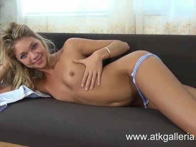 Jessie Andrews is a sweet little blonde masturbating