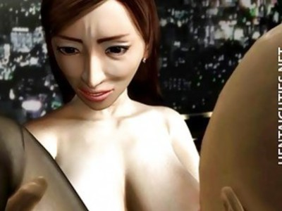 Steamy 3D anime babe gets fucked