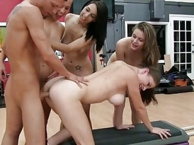 Kinky bff gals acquire smashed hard