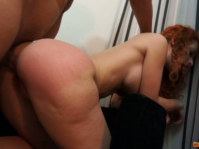 Bootylicious redhead slut getting her pitht pink pussy pounded hard