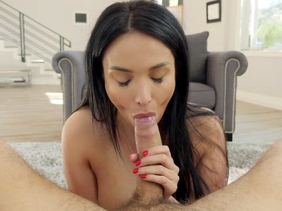 French MILF Anissa Kate is sucking cock in POV