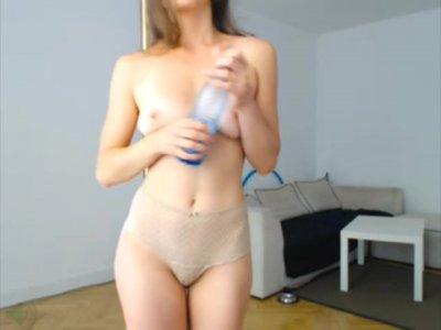 Cute Girl Dances Topless on Camera