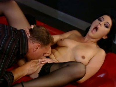 Arouse bitch Simone Shine gets tongue fucked before hubby's eyes